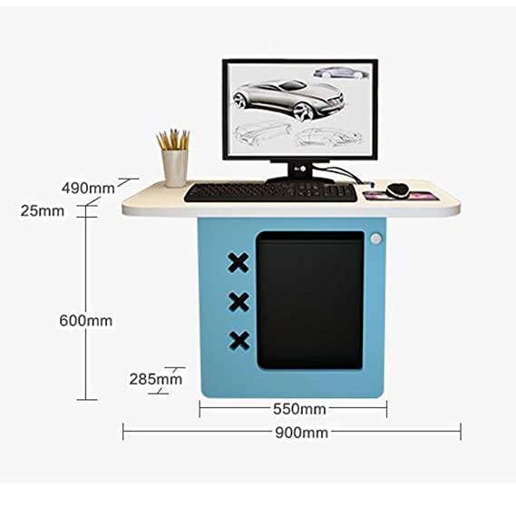 FEI Wall Mounted Computer Desk Portable Study Workstation With ...