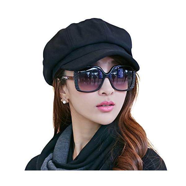 9dc8a3abfe7 SIGGI Womens Visor Beret Newsboy Hat Cap for Ladies Merino Wool ...