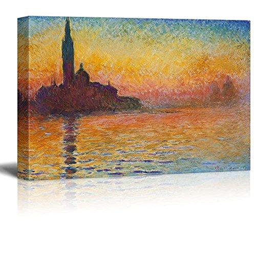 San Giorgio Maggiore at Dusk by Claude Monet Impressionist Art