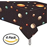 """Oojami 4 Pack Plastic Outer Space Table Cover 54""""x108"""""""