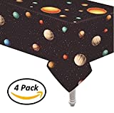 Oojami 4 Pack Plastic Outer Space Table Cover 54''x108''