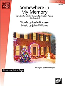 hal leonard somewhere in my memory from home alone piano library series by leslie bricusse level inter