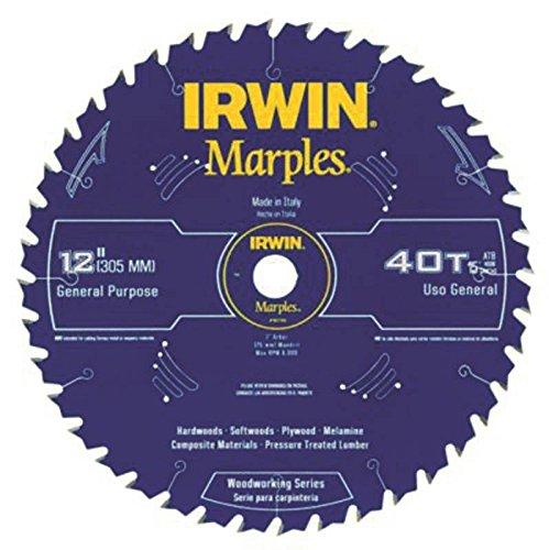 Irwin Tools  1807382 Marples Laser Cut 12-Inch 40-Tooth Alternate Tooth Bevel Circular Saw Blade