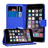 GAPlus iPhone 6 6S Case - Premium Wallet Leather Flip Case Cover For iPhone 6 6S With [Card Holder] [Magnetic Closure] (Blue)