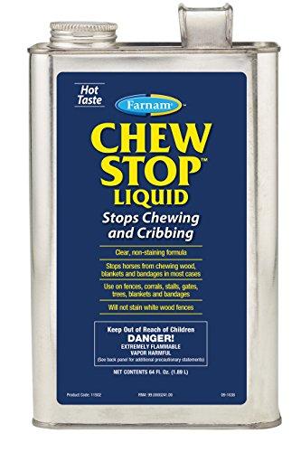 Farnam 272582 Chew Stop Liquid chewing Deterrent for Horses, 64 ()