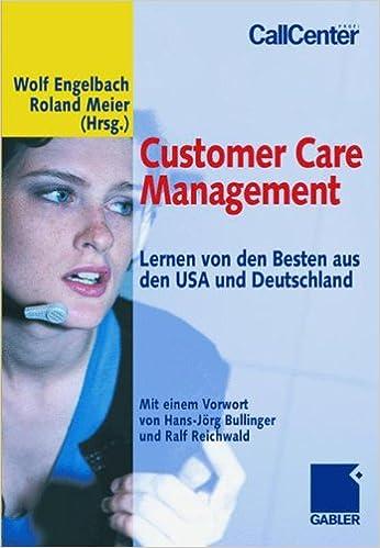 Book Customer Care Management: Lernen von den Besten aus den USA und Deutschland