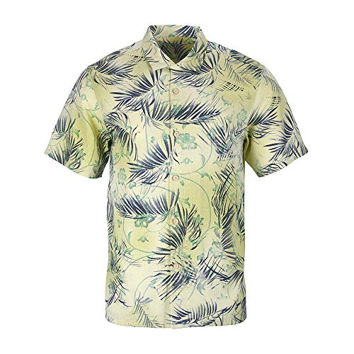 Havana Breeze Men's Vintage Classic-Fit Chest Pocket Pringting Pattern Hawaiian Shirt ()