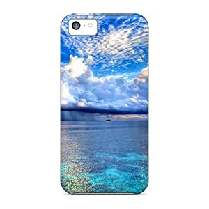 Tpu Case Cover Compatible For Iphone 5c/ Hot Case/ Shades Of Blue