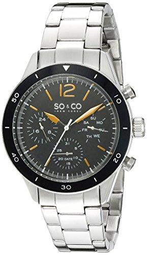 Timer Yacht (SO&CO New YorkMen's 5032.1 Yacht Timer Quartz Multifunction Stainless Steel Link Bracelet Watch)