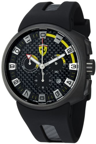 Ferrari  Men's F1 FE-10-IPGUN-CG-FC-FC Fast Lap Carbon Fiber Dial Chronograph Swiss Watch