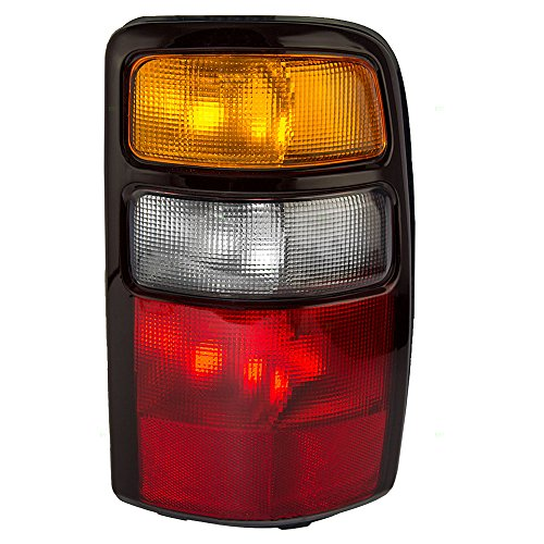 Passengers Taillight Tail Lamp with Amber Signal Lens & Black Housing Replacement for Chevrolet GMC SUV 15832092 AutoAndArt