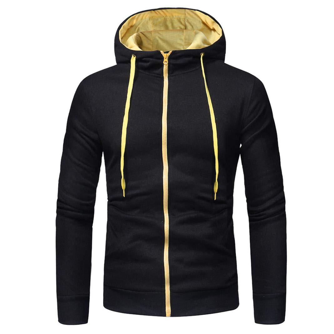 Herren Kapuzenpullover Warm Fashion Mumuj Langarm Herbst Winter Mä ntel Hoodies Mä nner Einfarbig Sweatshirt Tops Jacke Sport Fitness Mantel Outwear Overall