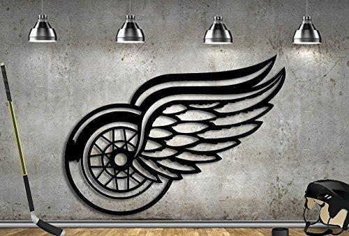 Hockey Art Detroit Red Wings - Hockey Sign Red Wings Hockey Fan Detroit Metal 31
