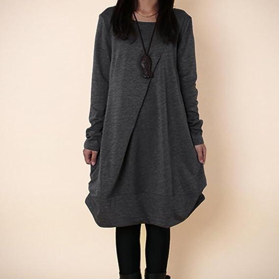 Damen Übergröße Bedruckt Lang Ärmel Ausgestellt Pullover