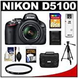 Nikon D5100 16.2 MP Digital SLR Camera and 18-55mm G VR DX AF-S Zoom Lens with 16GB Card + Case + Filter + Tripod + Cleaning and Accessory Kit, Best Gadgets