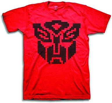 Transformers Autobot Pixel Symbol Camiseta Roja Para Hombre ...