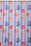 Shower Curtains with Fish on Them Saturday Knight Fish Playground Fabric Shower Curtain, Periwinkle