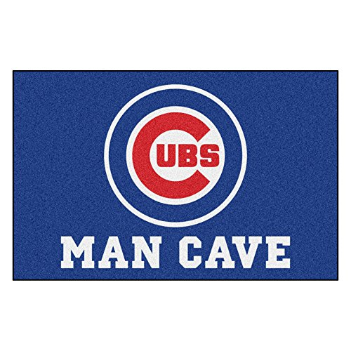 Fanmats 22387 MLB - Chicago Cubs Man Cave Starter - Mlb Rug Chicago Tufted Cubs