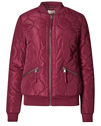 Mujer Chaqueta Capa Abrigo Outerwear Cardigan Vino Rojo