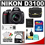 Nikon D3100 Digital SLR Camera and 18-55mm VR Lens with 32GB Card + Filter + Case + Accessory Kit, Best Gadgets