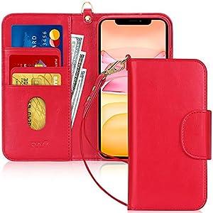FYY Etui Coque iPhone 11, [Fonction Kickstand] Étui en Cuir PU pour Portefeuille avec [Fentes pour Cartes] et [Pochettes…