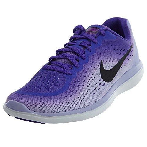 Nike Ungar Flex 2017 Rn (gs) Löparskor Hyper Druva / Svart / Lila Agat