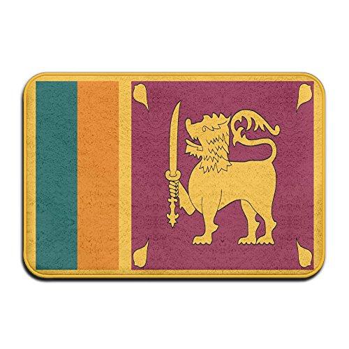 Sri Lanka Flag Welcome Mat Rug Front Door Bathroom Indoor Outdoors Floor Mat Gate Pad Cover Doormat Bath Mat Entrance Outside Doors Entry Carpet - Sri Lanka Coral