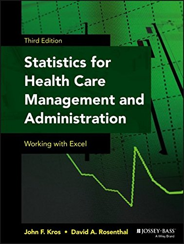 Statistics for Health Care Management and Administration: Working with Excel (Public Health/Epidemiology and Biostatistics) (Introduction To Statistics And Quantitative Data Analysis)