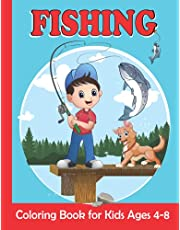 Fishing Coloring Book for Kids Ages 4-8: Fishing Coloring Pages For Girls and Boys | 30 Easy and Fun Kids Fishing Illustrations ready to color (French Edition)