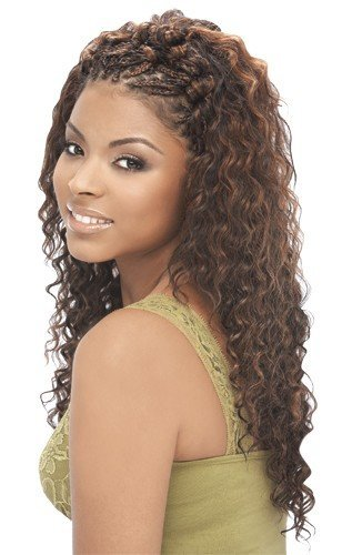 "Amazon.com : Deep Wave Bulk 18"" - Human Hair Blend ..."
