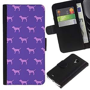 iBinBang / Flip Funda de Cuero Case Cover - Modelo rosado del papel pintado - Samsung Galaxy S4 Mini i9190 MINI VERSION!