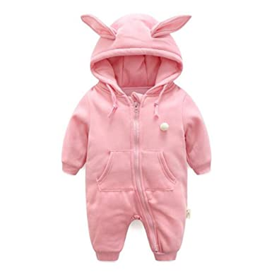 55ebc7d70 Zhuhaixmy Newborn Baby Boys Girls Thicken Cute Rabbit Badysuits ...