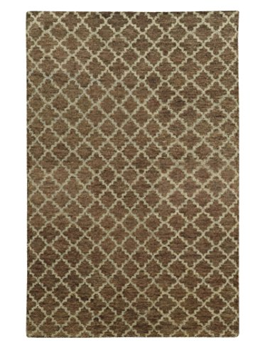 Tommy Bahama Maddox Lattice Brown/Blue Wool Area Rug (10' x 13') - 10' x 13'