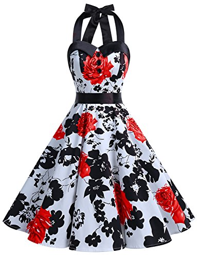 Dressystar Vintage Polka Dot Retro Cocktail Prom Dresses 50