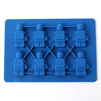 Amazon.com: Chocolate Mold - Cake Mould Robot Building Brick Silicone Ice Cube Tray Candy Chocolate Puncake Mold Baking Tool Bakeware - Molde Moulding Bar ...