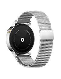 18MM 20MM 22MM Watch Bands Pinhen Milanese Loop Magnet Mesh Stainless Steel Watch Band For Huawei LG Withings Activité Samsung Moto 360 Smart Watch (18MM Silver)