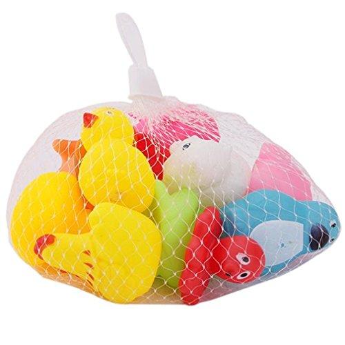 Hengsong Bunte Baby Kinder Badewannenspielzeug Wasserspielzeug Rasseln Spielzeug Cute Kleine Tier