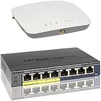NETGEAR ProSAFE WAC730 Business 3x3 Dual Band 802.11ac Wireless Access Point (WAC730-100NAS) & 8-Port Gigabit Managed Switch 4 PoE Ports (GS108PE) Bundle