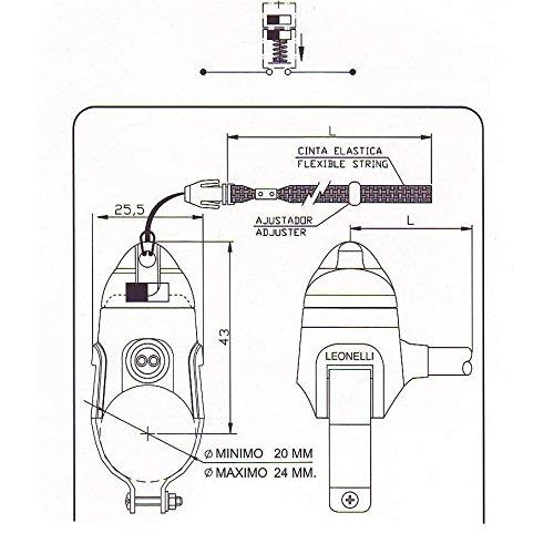 mit Metallschelle f/ür Lenker Leonelli Killschalter Totmannsystem Motor-Stopp-Schalter