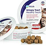 Cat Urinary Tract Health Treats, Kidney & Bladder Support For Felines, Cures & Prevents Painful UTI's, No More Antibiotics or Leaking, With Cranberry, D-Mannose & Probiotics, 30 Cheese Flavored Treats