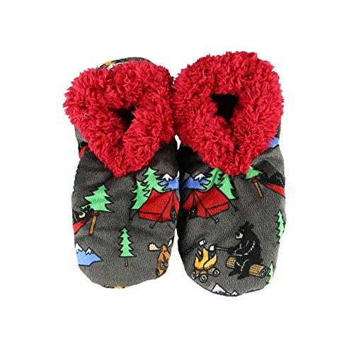 House Fuzzy Fuzzy Happy Camper Fuzzy by Feet LazyOne Slippers Ladies Feet Soft Slippers Womens Plush 1qFwzcR