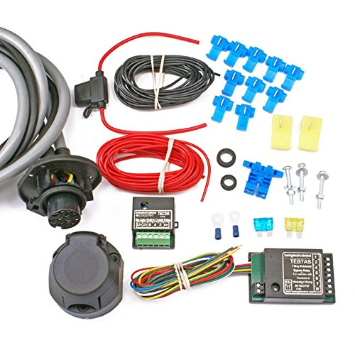 Full Universal 13-pin Towbar Wiring Kit (incl. Bypass Relay) - Multiplex Towing Electrics Towsure