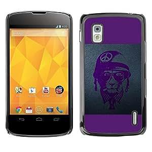 Be Good Phone Accessory // Dura Cáscara cubierta Protectora Caso Carcasa Funda de Protección para LG Google Nexus 4 E960 // Vietnam War Tiger Cat Vet Veteran