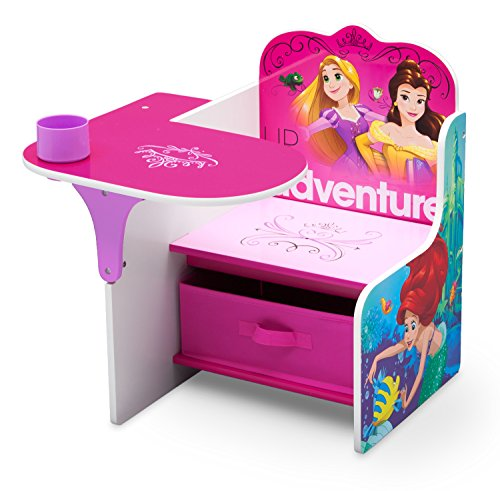 Delta Children Chair Desk with Storage Bin, Disney Princess (Friendship Adventures) School Age Seating Set