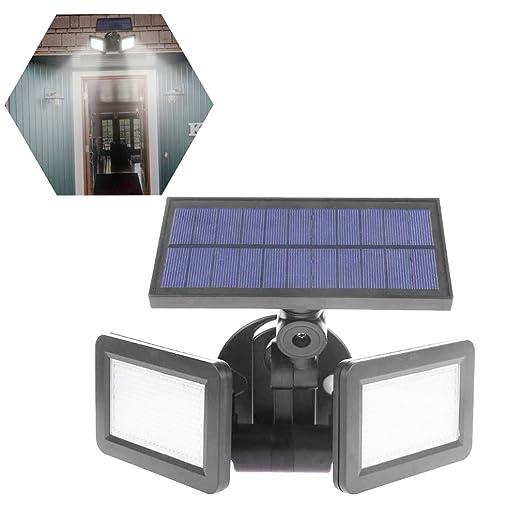 HRRH Proyector Solar al Aire Libre, Sensor de Radar de Doble ...