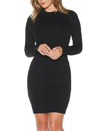 Long Sleeve Backless Mini Dress