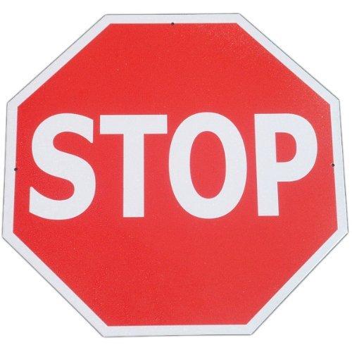 - tiggersmall Metal Stop Sign Tin Slow Traffic Street Aluminum Road Highway Sign