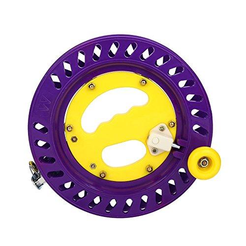 vgeby–Carrete de pesca carrete de línea de cometa, rueda de plástico agarre soporte para accesorios para herramientas...