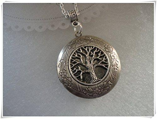Médaillon Arbre de vie, arbre généalogique Médaillon, Médaillon Photo, fête des mères Cadeau, petite amie Femme Cadeau