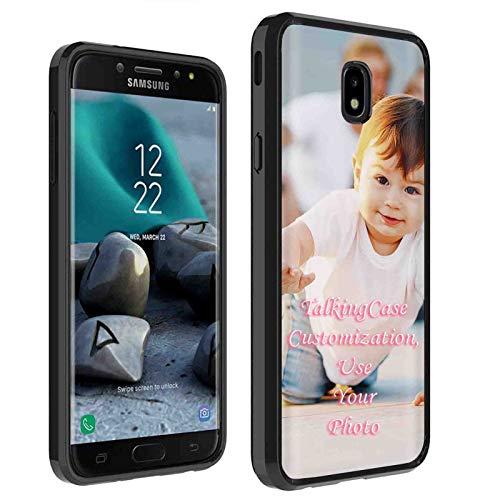 Samsung Galaxy (J7 2018) (J737) [Personalized Phone Case] Black Premium Thin Edge Bumper Case w/TalkingCase Customization Tool, Your Baby Photo HERE for J7 Aero,J7 Refine,J7 Star,J737P,J7 V 2nd Gen